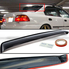 For 96-98 Civic 4DR Sedan Black Tinted Rear Roof Window Shade Visor Spoiler