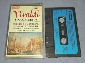 VIVALDI SIX CONCERTOS YULI TUROVSKY classical music cassette C0141