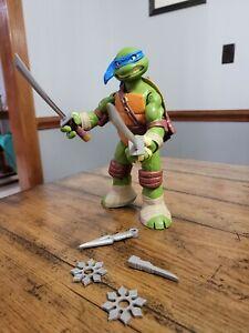 """Teenage Mutant Ninja Turtles Battle Shell Leonardo 11"""" Figure 2012 Playmate TMNT"""