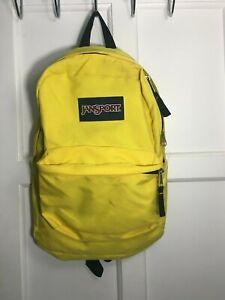 Light Used Jansport Superbreak Yellow Backpack Book Bag School Work Travel