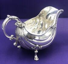 More details for huge stunning silver sauceboat london 1906 385 grams