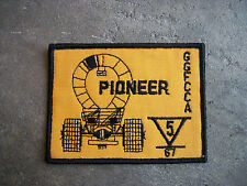 vintage 1967 GGFCCA Pioneer sports car club hot rod racing rally patch #2