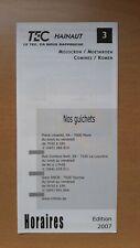 ► TEC Hainaut - guide horaire ligne 3, Mouscron - Comines (2007)
