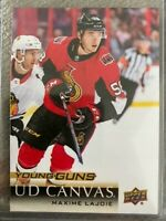 Maxime Lajoie 18-19 Upper Deck 1 Young Guns Rookie Card UD Canvas