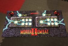 Mortal Kombat 2 Arcade Control Panel Overlay 6 Button MK2 MKII CPO Mame Midway