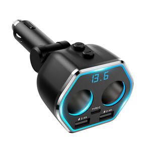 FM Transmitter TypeC Wireless Car USB Charger Cigarette Handsfree Kit Mp3 Player