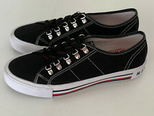 NEW! TOMMY HILFIGER HILL WOMEN'S BLACK CANVAS LOW-TOP SNEAKERS SHOES 8.5 39 SALE