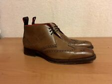 Jeffery West Ricochet Dexter Leather Brown Chukka Boots Size UK7 Made in England