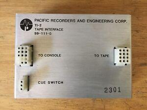 Pacific Recorders PR&E TI-2 TAPE INTERFACE for Professional Broadcast Console