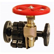 """BOILER BLOW DOWN FLANGED BLOWOFF VALVE 1-1/2"""" WOG SLOW OPEN 650-700 PSI # 725"""