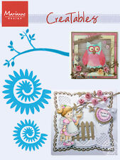 "MARIANNE CREATABLE DIES - ""BRANCH & FLOWER 2"" LR0257  FOR SCRAPBOOKING AND CARDS"