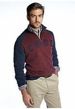 NWT Izod Big & Tall  1/4 Zip Pull Over Fleece Sweatshirt Navy/Burg 2XTL $68.msrp