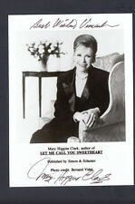 Mary Higgins Clark Signed 5x7 Photo Personalized Auto Let Me Call You Sweetheart