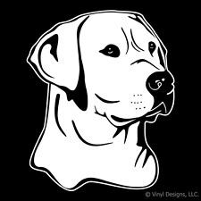 LABRADOR RETRIEVER DOG PORTRAIT DECAL-LAB STICKER -LABS