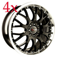 Drag DR-19 16x7 5x100 5x114.3 Black Rims For Probe Prelude S2000 Supra Turbo
