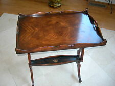 Theodore Alexander Mahogany Pierced Handles Spencer Crest Althorp Tray Table