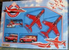 MATCHBOX - THE RED ARROWS  5 PIECE SET INC HAWK JETS/HELICOPTER/LAND ROVER/CAR