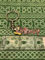 Vintage Disney Enamel Mickey Mouse Logo Keychain FREE SHIPPING
