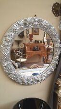 Specchiera in legno finitura foglia argento