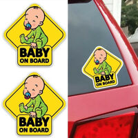 cartoon farbige baby an bord auto - dekoration grafik auto - aufkleber