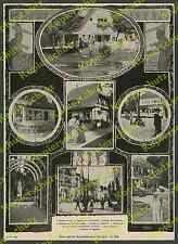 orig. Fototafel Bauaustellung Stuttgart Architektur Theodor Fischer Gminder 1908
