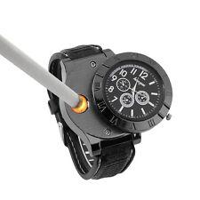 Men's Cool Quartz Wrist Watch Cigarette Electronic Lighter USB Rechargeable FE