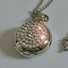 Reloj de Damas Moda Collar Colgante Hecho con Cristales de Swarovski Claro Regalo
