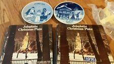 lot of 2 norwegian plates Julen 1972 and  Julen 1980 by porsgrund