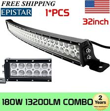 32''inch 180W Curved LED Work Light Bar Truck Offroad SUV Boat Driving 30in 150W