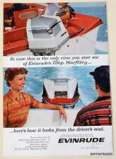 Evinrude 75hp Starflite II Outboard  Motor 1960 Magazine Print Ad 7 x 10