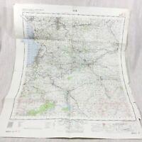 1964 Vintage Militare Map Ayr Scozia Kilmarnock Prestwick Camicia Troon Holmhead