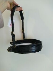 Shetland Patent Black Leather Breastplate For Driving Harness