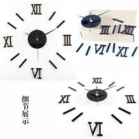 Luxury 3D Craft DIY Mirror Design Wall Clock Decal Stickers Home Room Decor Hot