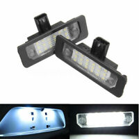 1Pair Super White LED Rear Number License Plate Light for 2010-2014 Ford Mustang