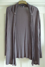 Ladies Size 14 Slate Grey Long Sleeved Open Front Cardigan from Papaya