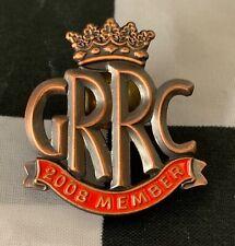 2008 GOODWOOD ROAD RACING CLUB GRRC MEMBERS ENAMEL PIN BADGE FOS REVIVAL 250 GTO