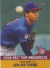 2018 Pacific Coast League Top Prospects PCL Jen Ho Tseng RC Rookie Cubs Taiwan