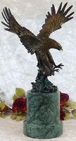 Bronze Adler Falke Eagle Bronzefigur Marmor Skulptur Vogel Statue Greifvogel XL