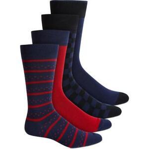 Alfani Men's 4-Pk. Socks Navy Red