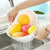 Rice Washer Strainer Vegetable Cleaning Container Basket Best Tools Kitchen V5O8