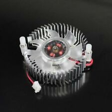 2 Pin 60mm 6cm Round Silver Tone 55mm Pitch Graphics VGA Video Card Cooling Fan