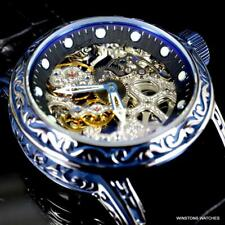 Invicta Vintage Excalibur Mechanical 52mm Blue Skeletonized Exhibition Watch New