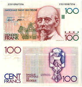 Belgium 100 Francs P#142a(6) (1982-94) Nationale Bank van Belgie AUNC