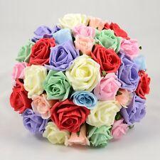 Artificial Wedding Flowers Silk Brides Bouquet Posy in 66 Colours & Designs