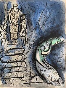 Marc Chagall 1887-1985 lithograph Ahasuerus banishes Vashti pub. by Mourlot 1960