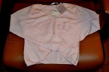 cardigan repetto  neuf 10 ans rose chausson  20% cashemire cache coeur 84eur