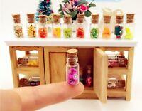 5 Dollhouse Miniature Food Fruit Slices Glass Jar Cork Bottle Kitchen Decor 1/12