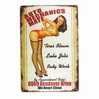 "Automobile Car Mechanics Mate Retro Metal Tin Decorative Garage Sign 8"" x 12"""