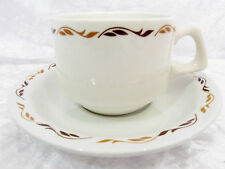 Bristile / Wembley ware Cup & Saucer vgc light & dark brown leaves  2 duos avail