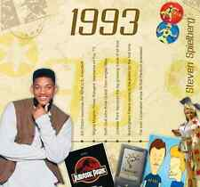 24th Birthday or Anniversary Gift - 1993 Compilation Pop CD and Greetings Card